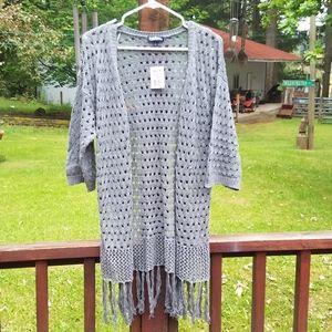 Freshman 1996 Long Gray Knitted Sweater - Med